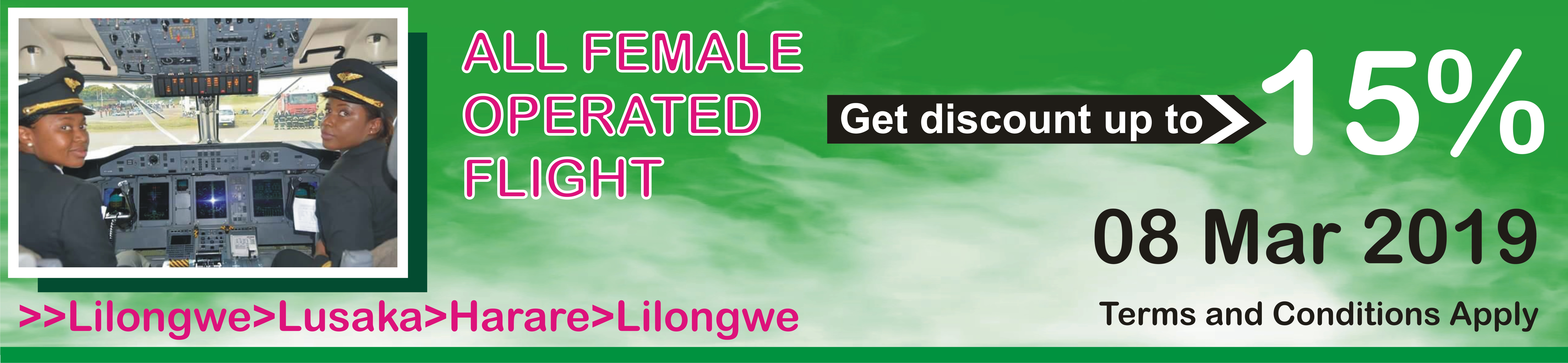 Malawi Airlines will join the rest of the international community in  commemorating this year s International Women s Day (IWD) with an  all-female staffed ... 5e6fb31d6
